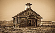 Horse And Buggy Framed Prints - Old West School House Framed Print by Steve McKinzie