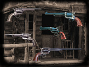 Gunsmith Prints - Old West Six Guns Print by Garry Staranchuk