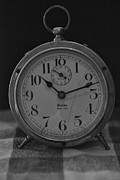 Westclock Acrylic Prints - OLD WESTCLOCK in BLACK AND WHITE Acrylic Print by Rob Hans