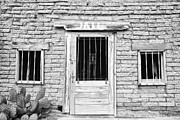 Stock Images Prints - Old Western Jailhouse in Black and White Print by James Bo Insogna