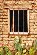 Old Western Prints - Old Western Jailhouse Window Print by James Bo Insogna