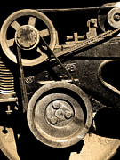 Sepia Photos Posters - Old Western Pacific Caboose Train Wheel . 7D10626 . sepia Poster by Wingsdomain Art and Photography