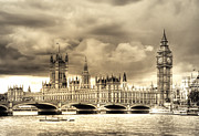 Old England Prints - Old Westminster in London Print by Vicki Jauron