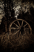 Wagonwheel Prints - Old Wheel Print by Tommi Saarela