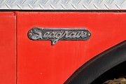 Small Towns Prints - Old Whitney Seagrave Fire Engine . 7D10795 Print by Wingsdomain Art and Photography