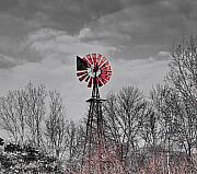 Abandoned Mixed Media - Old wind mill by Robert Pearson