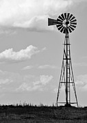 Prairie Sky Art Posters - Old Windmill II Poster by Ricky Barnard