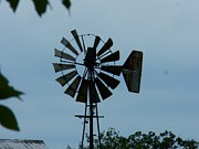 Indiana Farms Posters - Old Windmill Poster by Joyce  Kimble Smith