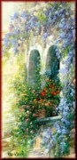 Capri Town Paintings - Old window by Antonia Varallo