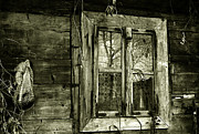 Cabin Wall Framed Prints - Old window Framed Print by Emanuel Tanjala