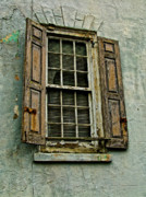 Old Windows Framed Prints - Old Window Framed Print by Louis Dallara