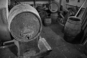 Wine Shop Prints - Old wine barrels Print by Gaspar Avila