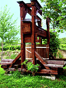 Old Wine Press Print by Mariola Bitner