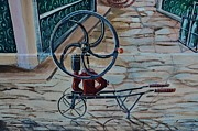Old Wine Pump Print by Dany  Lison
