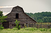 Wooden Structures Prints - Old Wood Barn Print by Lisa Moore