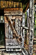 Tenn Prints - Old Wood Door 1 Print by Dennis Sullivan