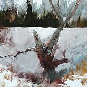 Pallet Knife Painting Prints - Old Wood Print by Gregg Caudell