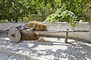 Antiquated Prints - Old wooden Cart in the shade Print by Kantilal Patel