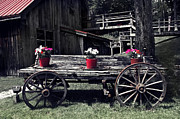 Olia Saunders Metal Prints - Old Wooden Cart  Metal Print by Design Remix