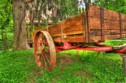 Green And Brown Photos - Old Wooden Cart by Paul Ward