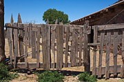 Historic Site Prints - Old Wooden Fence Gate Print by Thom Gourley/Flatbread Images, LLC
