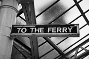 Listed Building Framed Prints - Old Wooden Sign To The Ferry In Weymss Bay Railway Station Scotland Uk Framed Print by Joe Fox