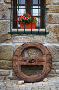 Stone House Posters - Old Wooden Wheel Poster by Carlos Caetano