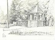 Quaint Drawings - Old World Charm by Kip DeVore