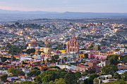 San Miguel De Allende Framed Prints - Old World City Skyline Framed Print by Jeremy Woodhouse