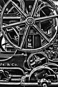 Gearing Photo Framed Prints - Old World Gears Framed Print by Kenneth Mucke