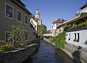 Cesky Krumlov Prints - Old World Homes Print by David Buffington