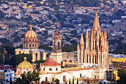 San Miguel De Allende Framed Prints - Old World Skyline Framed Print by Jeremy Woodhouse