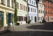 Cesky Krumlov Prints - Old World Street Print by David Buffington