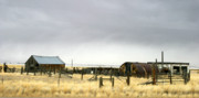 Abandoned Buildings Prints - Old Wyoming Farm Print by Anthony Jones