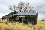 Abandoned Buildings Prints - Old Wyoming Farmhouse Print by Anthony Jones