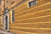 Old Door Prints - Old yellow building Print by Mats Silvan