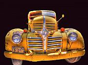Windshield Digital Art - Old Yellow Dodge by Peter Schumacher