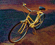 Yellow Bike Framed Prints - Old Yellow Framed Print by Steven Richardson