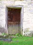 Old Houses Metal Prints - Old Yingling Flour Mill Door Metal Print by Don Struke