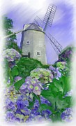 Cape Cod Paintings - Olde Cape Cod Orleans Windmill by Earl Jackson