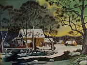 Currier And Ives Paintings - Olden Days by James Douglas Draper