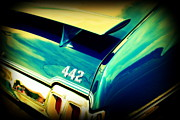 Back View Prints - Oldsmobile 442 Print by Susanne Van Hulst