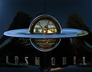 Classic Car Framed Prints - Oldsmobile 88 Emblem Framed Print by Peter Piatt