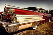 Red Skirt Framed Prints - Oldsmobile the skirt  Framed Print by Michael Howard