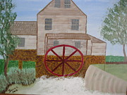 Grist Paintings - Ole Grist Mill by Dawn Harrold