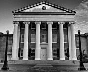 Ole Miss Lyceum Black And White Print by Joshua House