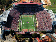 Hemingway Framed Prints - Ole Miss Vaught-Hemingway Stadium Aerial View Framed Print by University of Mississippi - Imaging Services - Athletics