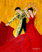 Ballroom Paintings - Ole Paso Doble by William Depaula