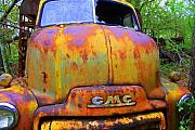 Rusty Truck Prints - Ole Rusty Full Frontal Print by Dana  Oliver