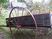 Steel Wheels Framed Prints - Ole wagon Framed Print by Steavon Horne